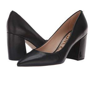 Sam Edelman Tatiana Pump Black Leather 8.5 NEW